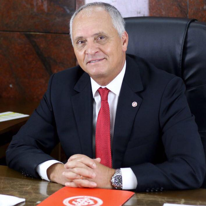 Foto do presidente do clube